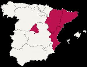 mapa de espana bibliotecas